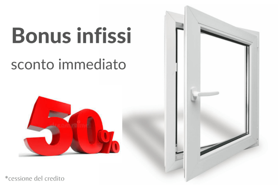 Bonus Infissi 50%, cessione del credito, ecobonus infissi